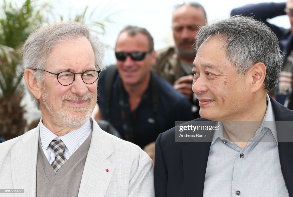 Jury members Steven Spielberg and Ang Lee attend the Jury Photocall during the 66th Annual Cannes Film Festival at the Palais des Festivals on May 15, 2013 in Cannes, France.