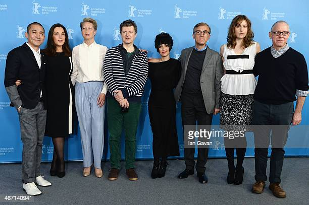 Jury members Tony Leung Barbara Broccoli Trine Dyrholm Michel Gondry Mitra Farahani Christoph Waltz Greta Gerwig and jury president James Schamus...