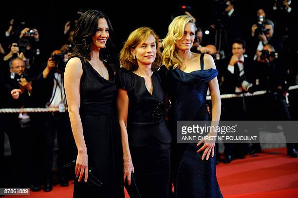 Jury members US actress Robin Wright Penn French actress and president of the jury Isabelle Huppert and Italian actress and director Asia Argento...