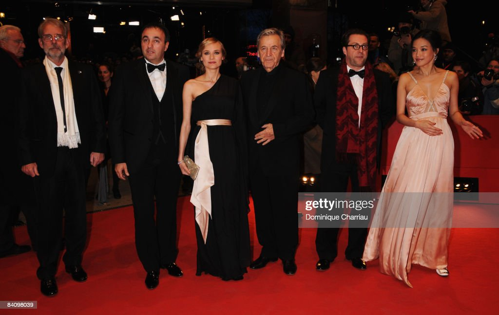 Jury members Walter Murch, Alexander Rodnyansky, Diane Kruger, Costa-Gavras, Uli Hanisch and Shu Qi attend the 'Be Kind Rewind' premiere as part of the 58th Berlinale Film Festival at the Berlinale Palast on February 16, 2008 in Berlin, Germany.