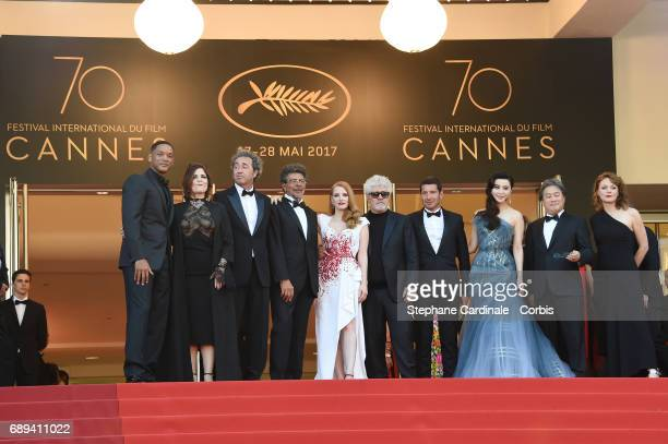 Jury members Will Smith Agnes Jaoui Paolo Sorrentino Gabriel Yared Jessica Chastain President of the jury Pedro Almodovar Mayor of Cannes David...