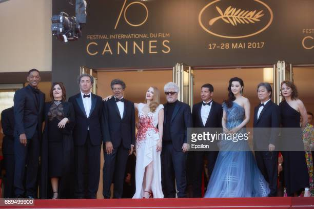 Jury members Will Smith Agnes Jaoui Paolo Sorrentino Gabriel Yared Jessica Chastain President of the jury Pedro Almodovar jury members Fan Bingbing...