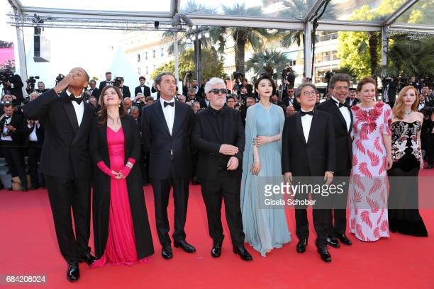 Jury members Will Smith Agnes Jaoui Paolo Sorrentino President of the jury Pedro Almodovar and jury members Fan Bingbing Park Chanwook Gabriel Yared...