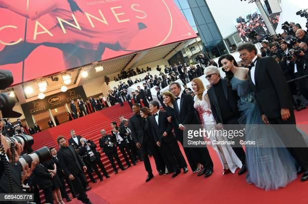 Jury members Will Smith Agnes Jaoui Park Chanwook Maren Ade Paolo Sorrentino Jessica Chastain President of the jury Pedro Almodovar jury members Fan...