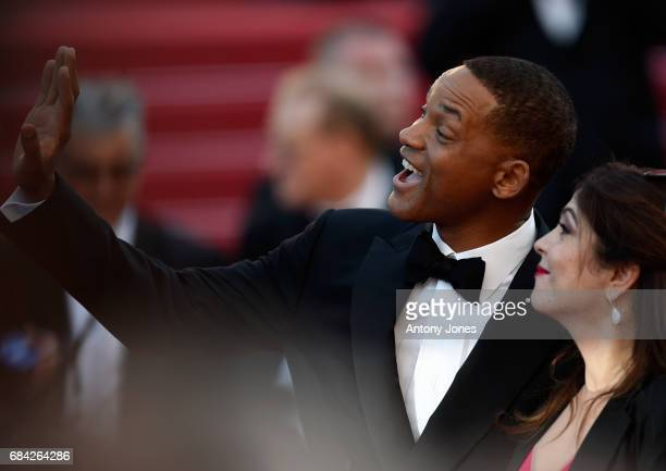 Jury members Will Smith and Agnes Jaoui attend the 'Ismael's Ghosts ' screening and Opening Gala during the 70th annual Cannes Film Festival at...