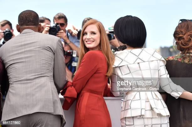 Jury members Will Smith Jessica Chastain and Fan Bingbing attend the Jury photocall during the 70th annual Cannes Film Festival at Palais des...