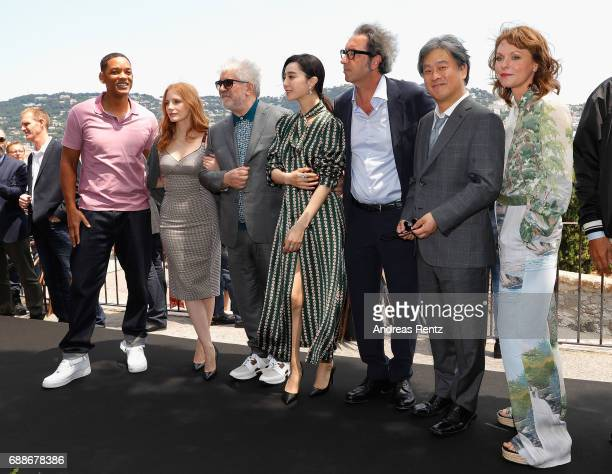 Jury members Will Smith Jessica Chastain Pedro Almodovar Fan Bingbing Paolo Sorrentino Park Chanwook and Maren Ade attend the Mayor's Aioli during...