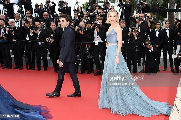 Jury members Xavier Dolan and Sienna Miller attend the closing ceremony and 'Le Glace Et Le Ciel' Premiere during the 68th annual Cannes Film...