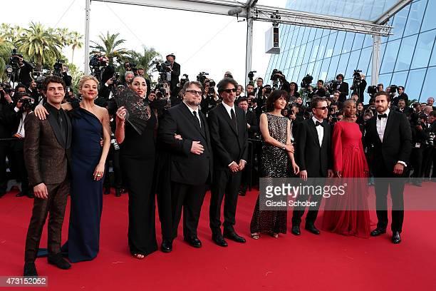 Jury members Xavier Dolan Sienna Miller Rossy de Palma Guillermo del Toro Joel Coen Sophie Marceau Ethan Coen Rokia Traore and Jake Gyllenhaal attend...
