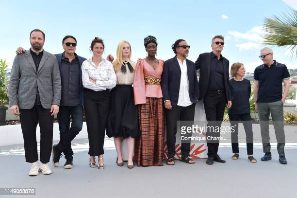 Jury Members Yorgos Lanthimos, Enki Bilal, Alice Rohrwacher, Elle Fanning, Maimouna N'Diaye, President of the Main competition jury Alejandro...