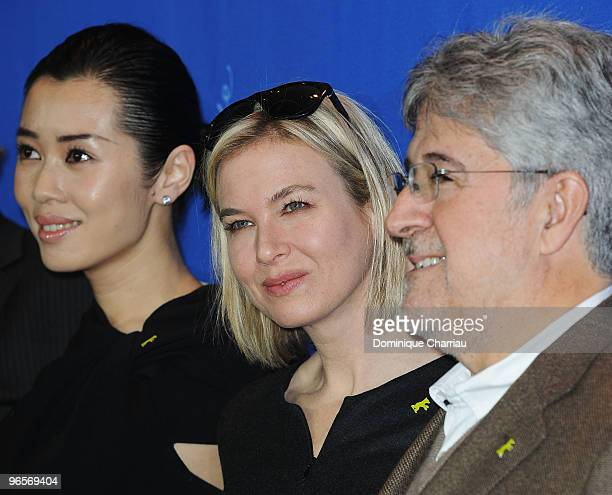 Jury members Yu Nan Renee Zellweger and Jose Maria Morales attend the International Jury Photocall during day one of the 60th Berlin International...