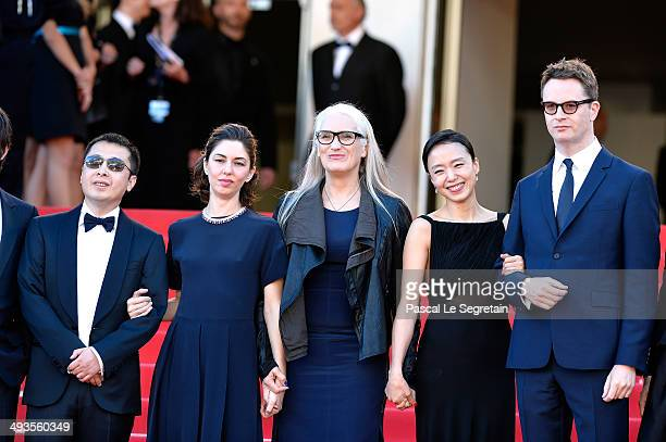 Jury members Zhangke Jia Sofia Coppola Jury President Jane Campion jury members Doyeon Jeon and Nicolas Winding Refn attend the Closing Ceremony and...