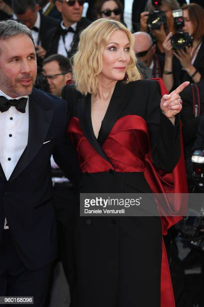 Jury memebers Denis Villeneuve and Cate Blanchett attend the screening of Closing Ceremony 'The Man Who Killed Don Quixote' during the 71st annual...