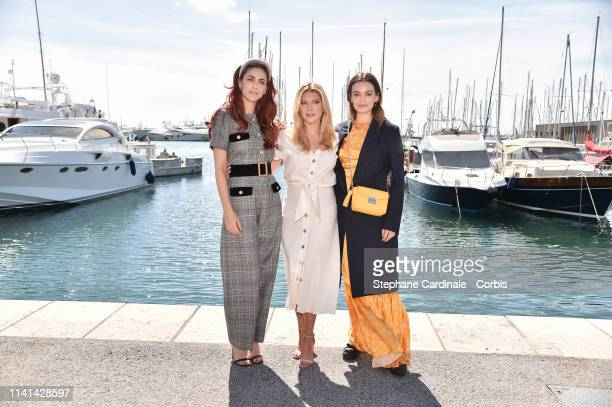 Jury menbers of the Cannes Series Actresses Emma Mackey Katheryn Winnick and Miriam Leone pose during the 2nd Canneseries International Series...