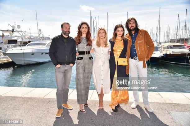 Jury menbers of the Cannes Series Baran Bo Odar Miriam Leone Katheryn Winnick Emma Mackey and Robin Coudert pose during the 2nd Canneseries...