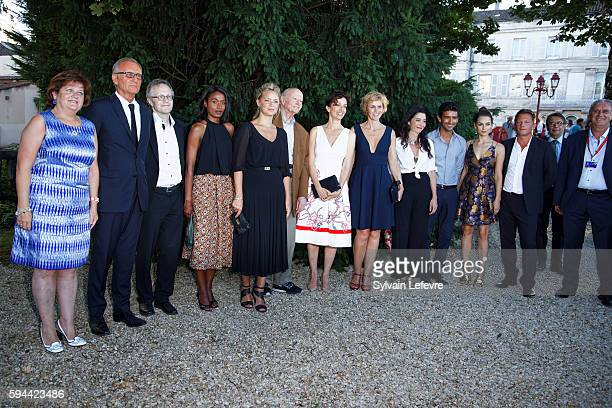 Jury photocall of 9th Angouleme FrenchSpeaking Film Festival during on August 23 2016 in Angouleme France