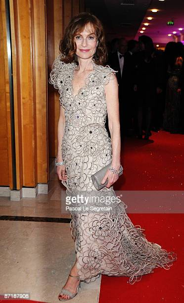 Jury President and actress Isabelle Huppert attends the Opening Ceremony Dinner at the Palais des Festivals during the 62nd International Cannes Film...