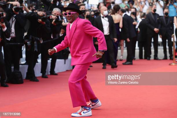 """Jury president and Director Spike Lee attends the """"Annette"""" screening and opening ceremony during the 74th annual Cannes Film Festival on July 06,..."""