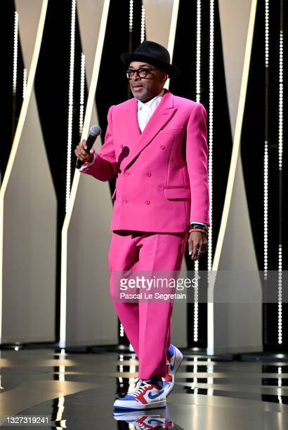 Jury president and Director Spike Lee during the opening ceremony of the 74th annual Cannes Film Festival on July 06, 2021 in Cannes, France.