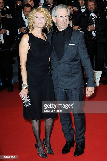 Jury President and Director Steven Spielberg and wife actress Kate Capshaw attend the 'Jimmy P. ' Premiere during the 66th Annual Cannes Film...