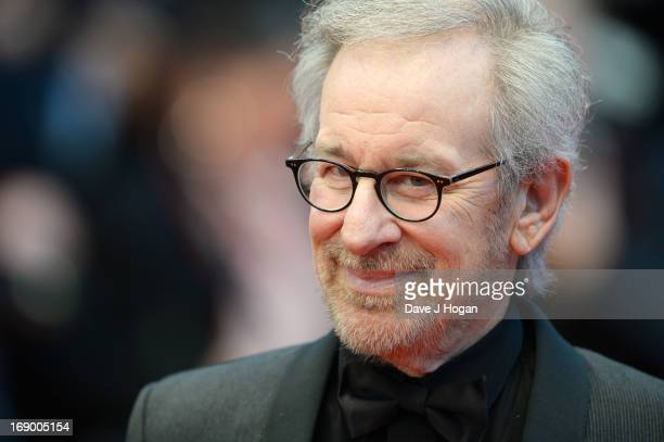 """Jury President and Director Steven Spielberg attends """"Jimmy P. """" Premiere during the 66th Annual Cannes Film Festival at Grand Theatre Lumiere on May..."""