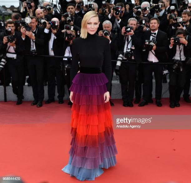 Jury president Australian actress Cate Blanchett arrives for the screening of the film 'BlacKkKlansman' at the 71st Cannes Film Festival in Cannes,...