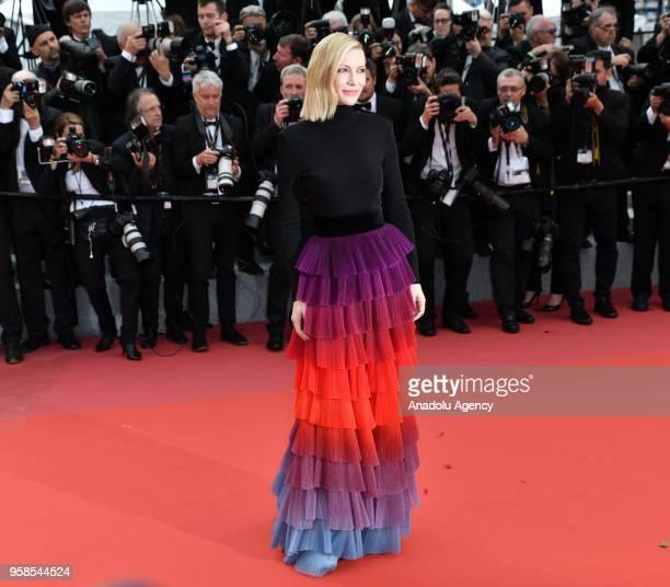 Jury president Australian actress Cate Blanchett arrives for the screening of the film 'BlacKkKlansman' at the 71st Cannes Film Festival in Cannes...