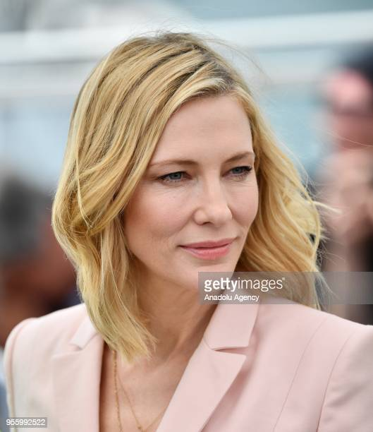 Jury President Australian actress Cate Blanchett poses for the 71st Cannes Film Festival in Cannes France on May 8 2018