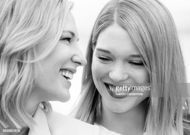 Jury president Cate Blanchett and jury member Lea Seydoux attend the photocall for Jury during the 71st annual Cannes Film Festival at Palais des...