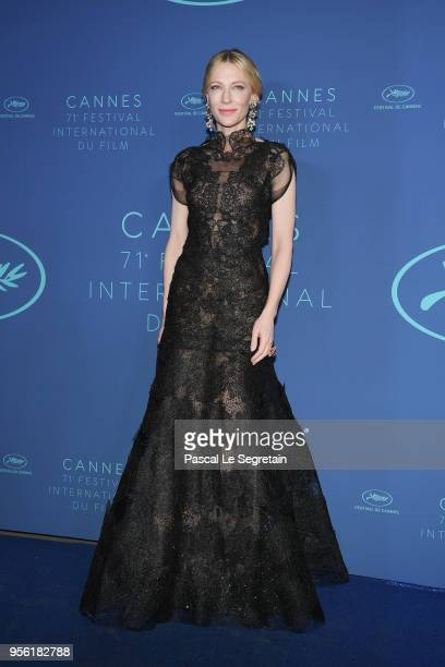 Jury president Cate Blanchett arrives at the Gala dinner during the 71st annual Cannes Film Festival at Palais des Festivals on May 8 2018 in Cannes...