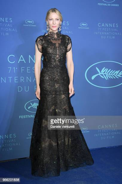 Jury president Cate Blanchett arrives at the Gala dinner during the 71st annual Cannes Film Festival at Palais des Festivals on May 8, 2018 in...
