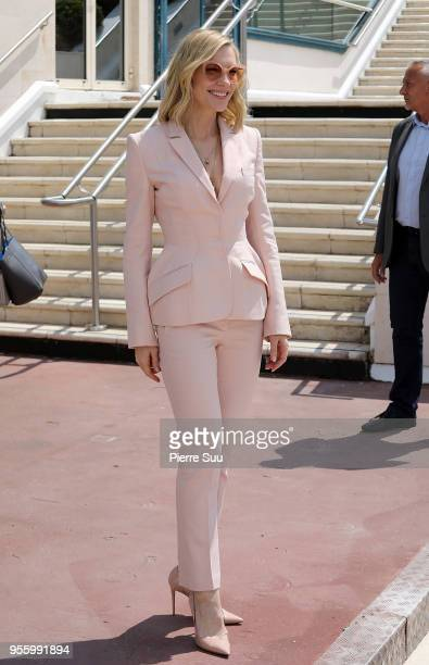 Jury president Cate Blanchett arrives at the jury photocall during the 71st annual Cannes Film Festival on May 8 2018 in Cannes France