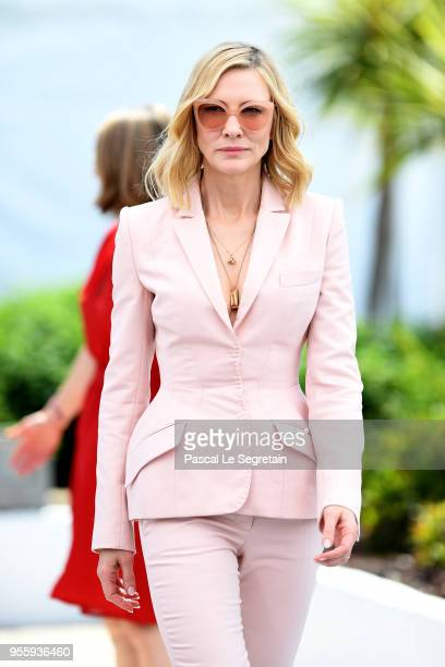 Jury president Cate Blanchett arrives for the Jury photocall during the 71st annual Cannes Film Festival at Palais des Festivals on May 8 2018 in...