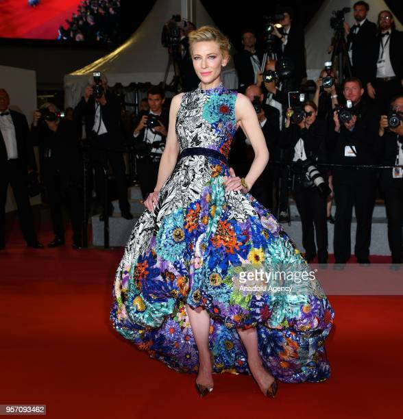 Jury President Cate Blanchett arrives for the screening of the film 'Cold War' in competition at the 71st Cannes Film Festival in Cannes France on...