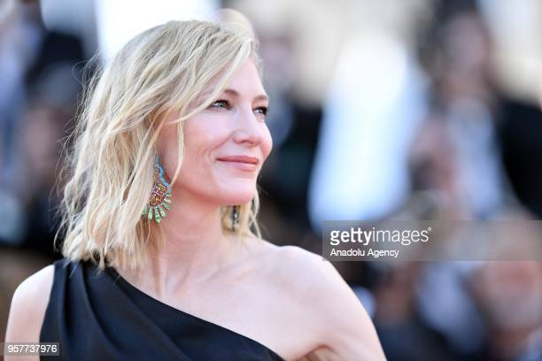 Jury president Cate Blanchett arrives for the screening of the film 'Girls of the Sun in competition at the 71st Cannes Film Festival France on May...