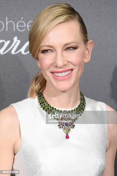 Jury president Cate Blanchett attends the Chopard Trophy during the 71st annual Cannes Film Festival at Martinez Hotel on May 14 2018 in Cannes France