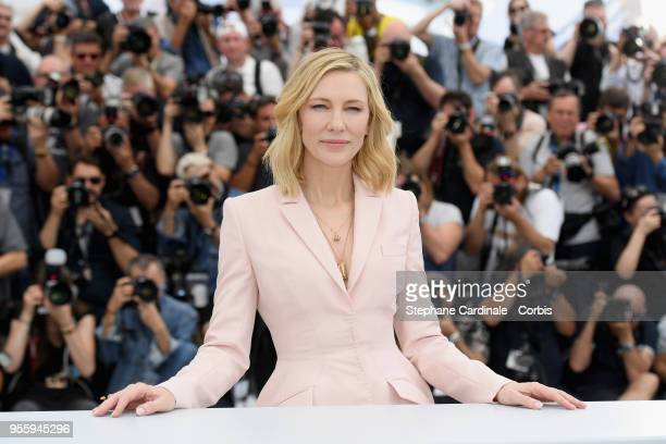 Jury president Cate Blanchett attends the Jury photocall during the 71st annual Cannes Film Festival at Palais des Festivals on May 8 2018 in Cannes...