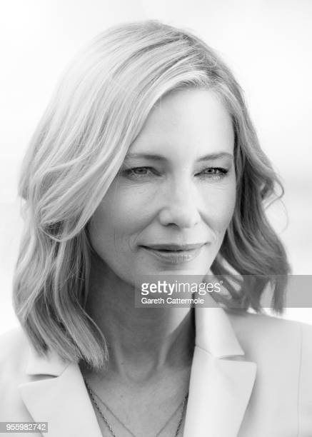 Jury president Cate Blanchett attends the photocall for Jury during the 71st annual Cannes Film Festival at Palais des Festivals on May 8 2018 in...