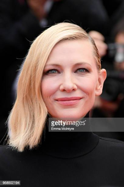 Jury president Cate Blanchett attends the screening of Blackkklansman during the 71st annual Cannes Film Festival at Palais des Festivals on May 14...
