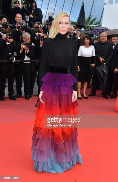 Jury president Cate Blanchett attends the screening of 'BlacKkKlansman' during the 71st annual Cannes Film Festival at Palais des Festivals on May...