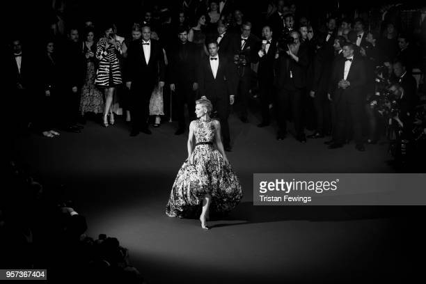 Jury President Cate Blanchett attends the screening of 'Cold War ' during the 71st annual Cannes Film Festival at Palais des Festivals on May 10 2018...