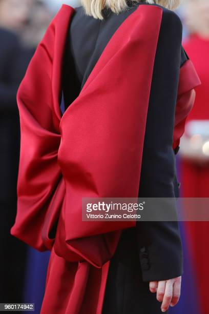 Jury president Cate Blanchett dress detail attends the Closing Ceremony screening of 'The Man Who Killed Don Quixote' during the 71st annual Cannes...