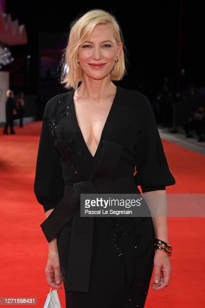 """Jury President Cate Blanchett walks the red carpet ahead of the movie """"Spy No Tsuma"""" at the 77th Venice Film Festival on September 09, 2020 in..."""