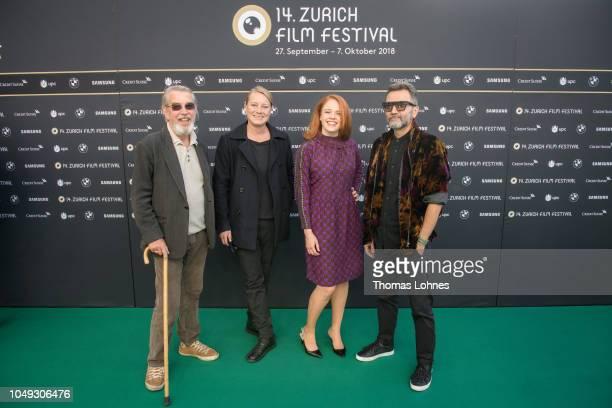 Jury president Dick Fontaine and jury members Camilla Nielsson Maya Zinshtein and Talal Derki attend the ZFF International Documentary Film jury...