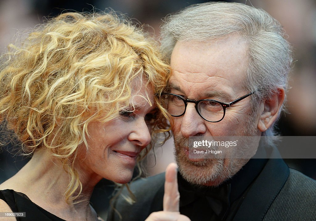 Jury President, Director Steven Spielberg and wife actress Kate Capshaw attend the 'Jimmy P. (Psychotherapy Of A Plains Indian)' Premiere during the 66th Annual Cannes Film Festival at the Palais des Festivals on May 18, 2013 in Cannes, France.