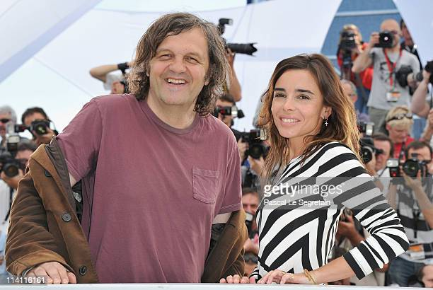Jury President Emir Kusturica and Jury Member Elodie Bouchez attend the Un Certain Regard Jury Photocall during the 64th Annual Cannes Film Festival...