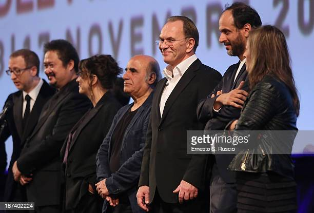 Jury President James Gray Jury members Zhang Yuan Noemie Lvovsky Amir Naderi Aleksei Guskov Luca Guadagnino and Veronica Chen attend the Opening...