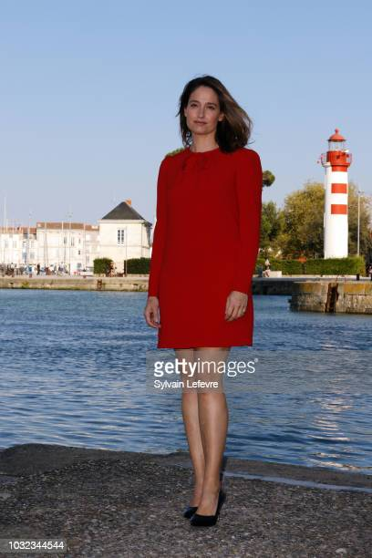 Jury President Marie Gillain attends a photocall during the 20th Festival of TV Fiction on September 12 2018 in La Rochelle France
