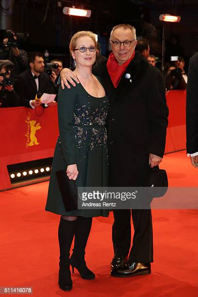 Jury president Meryl Streep and festival director Dieter Kosslick attend the closing ceremony of the 66th Berlinale International Film Festival on...