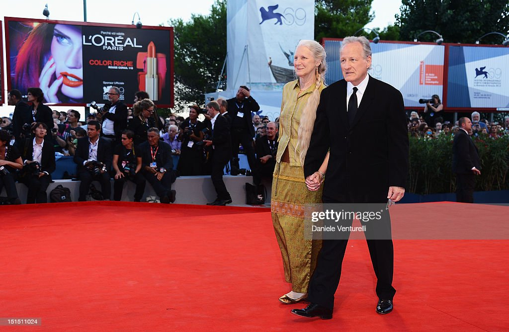 Jury President Michael Mann (R) and his wife Summer Mann attends Award Ceremony And 'L'Homme Qui Rit' Arrivals during The 69th Venice Film Festival at the Palazzo del Cinema on September 8, 2012 in Venice, Italy.